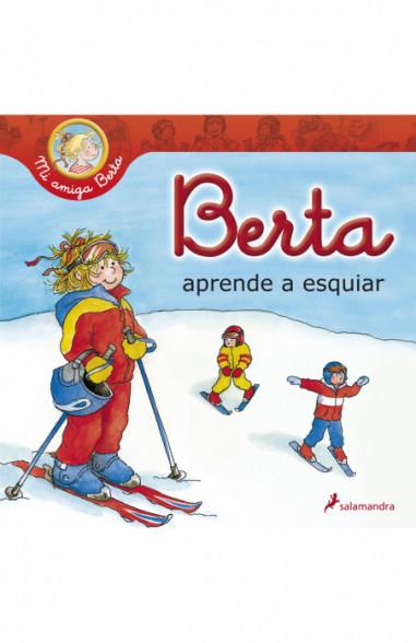 Berta aprende a esquiar