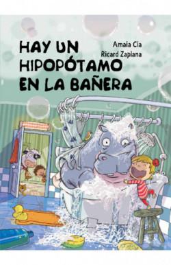 Hay un hipopótamo en la bañera
