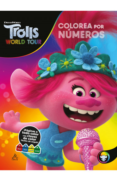 Trolls world tour - Colorea con números