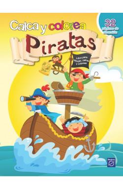 Calca y colorea - Piratas