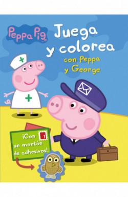 Juega y colorea con Peppa y George (Peppa Pig. Actividades)