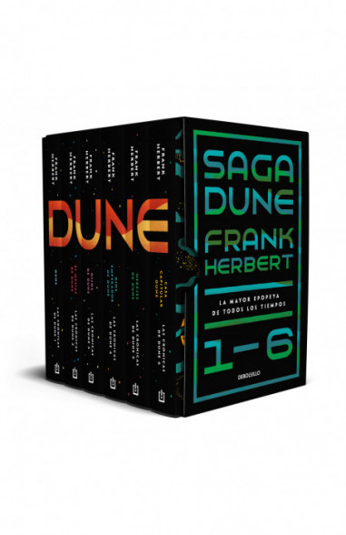 Pack Dune (contiene: Dune|El mesías de Dune|Hijos de Dune|Dios emperador de Dune|Herejes de Dune|Casa capitular)